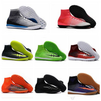 Wholesale Ic Cream - New 2017 Mens Mercurial Superfly Proximo II TF Soccer Shoes Indoor Football Boots MercurialX Proximo II IC Athletic Shoes Size 6.5-12