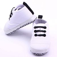 Wholesale Toddler Boy Crown - Baby Shoes Boys Solid Cotton Crown Infant Soft Sole Baby First Walker Toddler Shoes
