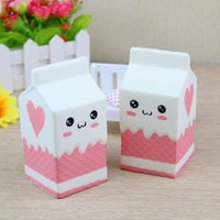 Wholesale Cell Phones Bottles - squishy milk bottle can box eric squeeze squishy slow rising jumbo Cell Phone Key chain Strap Pendant roll Squishes PU cute toys