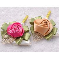 Wholesale Wholesale Wrist Wedding Corsages - Hot Fashion White Rose Wedding Corsages Hand flower Corsages Cheap Wedding Bouquets Wrist Flowers For Bridesmaid Girls H0011