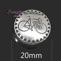 Wholesale Bicycle Jewelry Women - High qualit bicycle W177 18mm 20mm rhinestone metal button for snap button Bracelet Necklace Jewelry For Women Silver jewelry