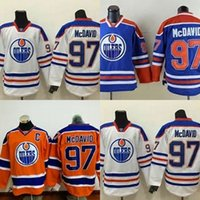 Wholesale Cheap Usa Flags - Hot Sale Mens Edmonton Oilers 97 Connor McDavid Orange USA Flag Stitched Best Quality Cheap Full Embroidery Logos Ice Hockey Jerseys