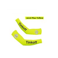 Wholesale Saxo Bank Arm - Fluo YELLOW 2016 TINKOFF saxo bank PRO TEAM CYCLING ARM WARMER BICYCLE arm sleeves OVERSLEEVES SIZE:S-XXL