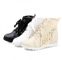 Wholesale Short Rainboots Women - Summer Korean version Woman flat short Boots Fashion Hollow lace Net Cool boots