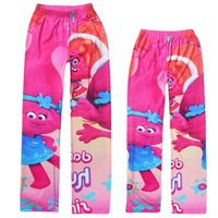 Wholesale Cheap Leggings Style - Full print Trolls poppy girls leggings wholesale children trousers factory cheap price baby girl's tight pants