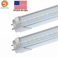 Tubos de los bulbos del LED 4 pies FT 4ft Tubo del LED 18W 22W T8 luz fluorescente 6500K fría blanco Fábrica Venta al por mayor 28W doble fila LED