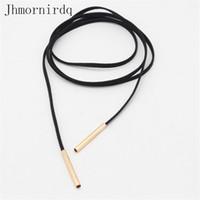 Wholesale Ladies Chockers - Long chocker necklace black cheap jewlery women leather fashion choker 2017 womens chockers ladies jewelery accessories storage