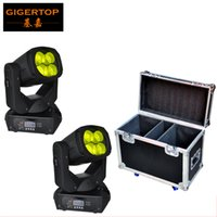 TIPTOP 2IN1 Flightcase Verpackung 4x25W Led Moving Head Licht Super Strahl 130W Tyanshine Weiß Farbe LED Farbe Räder Drehen Linse