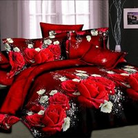 Wholesale Cheap Twin Sheets - Wholesale-UNIHOME home Cheap 3D Bedding Set Flower Queen Twin Size 3D  bedset cotton duvet cover set bed sheet