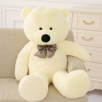 Wholesale Dresses For Big Figure - 60CM Big Teddy Bear Plush Toys For Children Funny Creative Dress Up The Tie Teddy Bear Big Toy Dolls For Kids Birthday Gifts