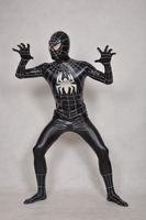 Wholesale sexy zentai spiderman - The viscose black spiderman Lycra Spandex Zentai Suit Original full body Costumes