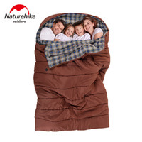 Wholesale Nylon Sleeping Bags - Wholesale- Brand family's style travel sleeping bag Outdoor camping one-piece double three family road trip travel cotton sleeping bag