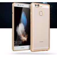 Wholesale Crystal Brand Phone Case - Luxury Ultra Thin Clear Crystal Rubber Plating Electroplating TPU Soft Mobile Phone Case For Huawei P Series P8 P9 G9