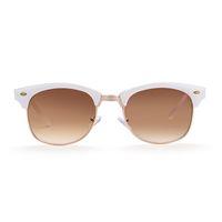 Wholesale Cloth Tea Bag - Brand new sunglasses for men Round polarized sunglasses Real white progressive tea UV400 with Glasses cloth bag box GS81-2