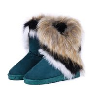 Wholesale Exporting Women Shoes - Wholesale-2016 new fashion winter snow boots large wool export imitation fox fur boots shoes boots tassel high cylinder women boot#WSZ3