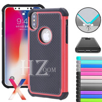 Wholesale Football Covers - For Samsung s8 Shockproof 3 In 1 Heavy Duty Tough Hybrid Rubber Silicone TPU Football Skin Hard Case Back Cover For iPhone X 8 PLUS 7 6S