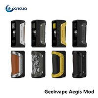 Wholesale Support For Batteries - Authentic GeekVape Aegis Mod 100W TC Box MOD Waterproof Shockproof Dust-proof Supports Fit for 18650 Or26650 Battery Vape Mod Box Original