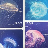 Wholesale Soft Jellyfish - Wholesale- DOO COO 1Pc Kawaii Jellyfish Blank Notebook Journal Diary Notepad Soft Weekly Planner Copybook Note Book Cute Stationery