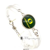 Wholesale Oregon Chains - 2017 Fashion Bracelet&Bangle University of Oregon NACC University Team Sport Charms Bracelet for Women Fan Jewelry SP036