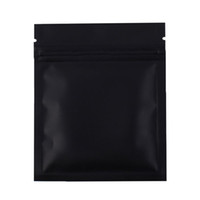 Wholesale Small Food Plastic Bags Wholesale - 7.5x10cm  3x4in 100pcs Matte Black Aluminum Foil Plastic Ziplock Pouch Flat Small Package Zip Lock Bags With Tear Notch