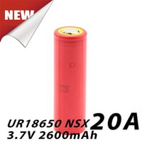 Wholesale Sanyo Rechargeable Flashlight - Battery Rechargeable Sanyo 18650 Batteries 2600mah Cell Battery UR18650NSY HIGH Drain 20amp Fit Ecig Flashlights By FedEx Ship
