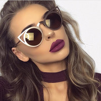 Wholesale sunnies glasses - Wholesale-ROYAL GIRL 2017 New Women Sunglasses Vintage Cat Eye Sun glasses Metal Eyeglasses Frames Mirror Shades Sexy Sunnies ss309