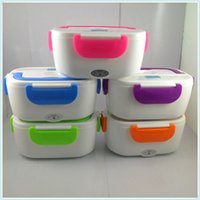 Wholesale Electric Heated Lunch Box - Mini electric heating lunch box lunch hot meal 110V portable electronic device electronic box hot plug