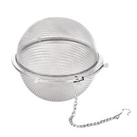 Discount wholesale cast iron pots - 100pc Hot Stainless Steel Tea Pot Infuser Sphere Mesh Tea Strainer Ball 5cm free shipping 15L