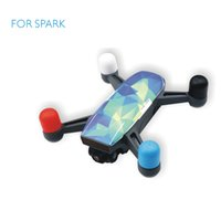 Wholesale Protect Helicopter - SPARK Accessories SPARK Motor Silicone Protection Cover Dustproof Cap protect Guard For DJI Spark Camera Drone (4pcs set)