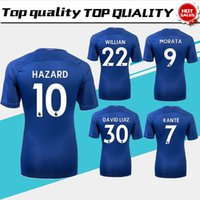 Wholesale Chelsea Orange - New Chelsea Home blue Soccer Jersey 17 18 HAZARD WILLIAN short sleeve soccer shirt 2018 KANTE Football uniforms DIEGO COSTA Sales S-XXXL