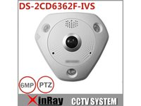 Wholesale Fishing Infrared - Hikvision 6MP Fish-Eye IP Camera DS-2CD6362F-IVS CCTV POE IR Outdoor Camera