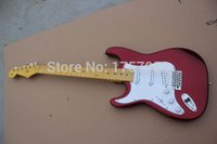 Wholesale Stratocaster Custom Shop Electric Guitar - Factory custom shop 2015 Newest Custom left hand Candy Apple Red ST electric guitar Free shipping (HAI 4 stratocaster