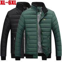 Wholesale 7xl Winter Coats - Wholesale- Big size 5XL 6XL 7XL winter jacket men casual brand-clothing warm parka jacket men thichen outerwear coats men DJ010