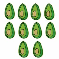 Wholesale Brand New Green Avocado Patches Badge for Clothing Iron Embroidered Patch Applique Sew On Patches Sewing Accessories For DIY Clothes