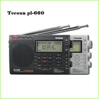 radio ssb aire al por mayor-Al por mayor-100% Nuevo TECSUN PL-660 Radio PLL SSB VHF AIR Radio receptor de banda FM / MW / SW / LW Radio Multiband Dual Conversión TECSUN PL660 Y4133A