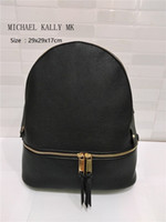 Wholesale New Style Backpack Handbag - 2017 NEW arrival women brand MICHAEL KALLY backpack bags pu quality handbags for young girls women luxury shoulder tote bag purse