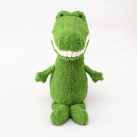 Wholesale Baby Donkey Toy - Laughing Stuffed Plush Animals Smiling Funny Cute Plushed Toy For Baby And Kids Gray donkey or Green Crocodile