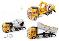 Wholesale Wholesale Garbage Trucks - Hot 1:48 Miniature Model Trucks Toy Scale Models Car Alloy Sanitation Engineering Vehicle Simulation Garbage Toy For Boy Gift