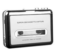 Wholesale cassette capture - 10PCS cassette player USB Cassette to MP3 Converter Capture Audio Music Player Convert music on tape to Computer Laptop Mac OS EZ220