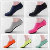 Wholesale Kids Rubber Socks - Multicolor Room Socks diving shoes water Sports anti-slip soft sole shoes for kids adult family matching shoes
