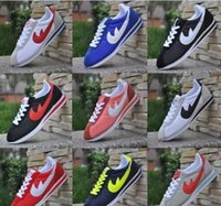 Wholesale Women Fashion Shoes Large Size - 2017Hot new brands 10 colors Casual Shoes men and women cortez shoes leisure Shells shoes Leather fashion outdoor Sneakers large size 36-48
