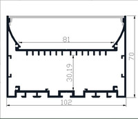 Wholesale 12v Furniture Lights - 2M PCS 10M LOT LED strip Aluminium profile LED aluminium profile for Interior accent lighting indoor light furniture light