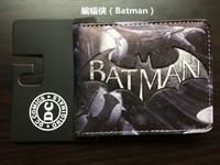 Wholesale Animated Sky - batman Young boys and girls the student individuality tide brand short animated cartoon cross a wallet