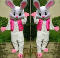 Wholesale Easter Bunny Character Costume - New EASTER BUNNY MASCOT COSTUME Bugs Rabbit Hare Cartoon Character Mascotte Suit EMS free shipping