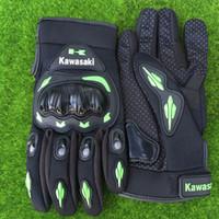 Wholesale Motorbike Protective Gear - 2017 Free Shipping Kawasaki Motorcycle Gloves guantes Motocross racing Motorbike Luva full finger Moto Protective Gears