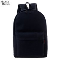 Wholesale Canvas Big Backpack For School - Wholesale- Mara's Dream Fashion Backpacks for Men and Women Solid Color Preppy Style Softback Couple School Bags Big Capicity Canvas Bag