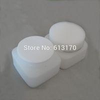 contenedor cuadrado de estaño al por mayor-50 g tarro de crema PP cara vacía envase cosmético cuadrado diy maquillaje latas vaso de muestra recargable de plástico blanco envío gratis