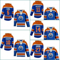 Wholesale Nail 27 - 5 Mark Fayne 10 Nail Yakupov 11 Mark Messier 14 Jordan Eberle 27 Boyd Gordon Mens Edmonton Oilers Hockey Hoodie Stitched Jersey Hoodies