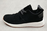 Wholesale Crazy Girls - Discount Cheap mens Pink NMD C2 suede Boost,2018 new Women girls Sports running shoes,Gym Jogging Trainers Crazy Runner Training Sneakers