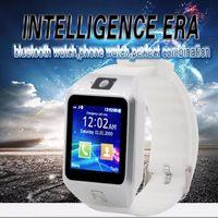смотреть бесплатно телефон dhl оптовых-DZ09 Smart Watch Wrisbrand Android Smart SIM интеллектуальный мобильный телефон часы могут записывать состояние сна Smart watch DHL бесплатная доставка 50 шт.